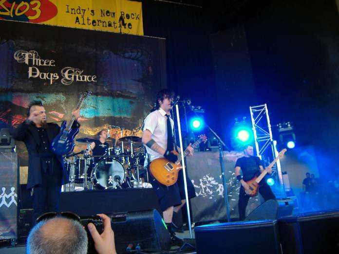 three days grace koncert