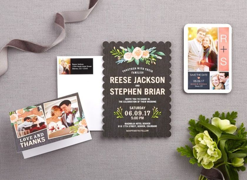 Casual Personalized Wedding Invitations