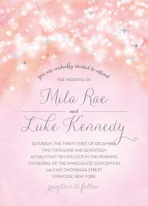 Pale Pink Le Wedding Invitation