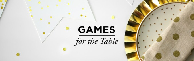Baby Shower Games Table Games