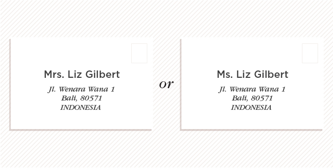 The Best Practice Is To Address Her As Either Mrs Or Ms And Use Maiden Name If She Doesn T Former Husband S Surname