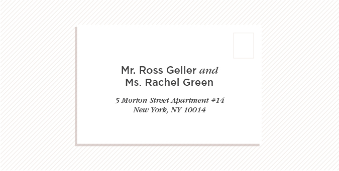 Similar To The Address For A Married Couple Both Names Should Be Included On Envelopes