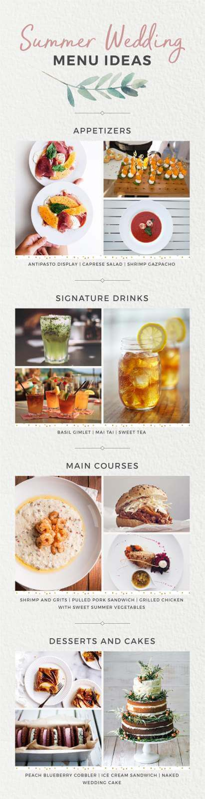 Summer Wedding Menu Ideas