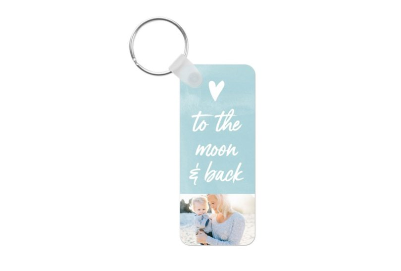 to the moon keychain