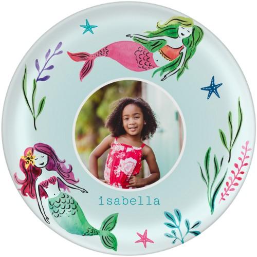 platos de sirena para decoración de fiesta de cumpleaños de sirena