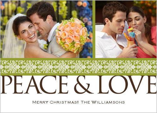 Shutterfly Peace Love Holiday Card