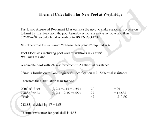 Thermal calculation