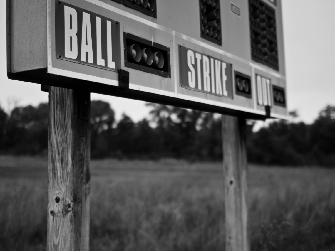 Baseball Score Board at the GM Fields in Spring Hill, Tennessee