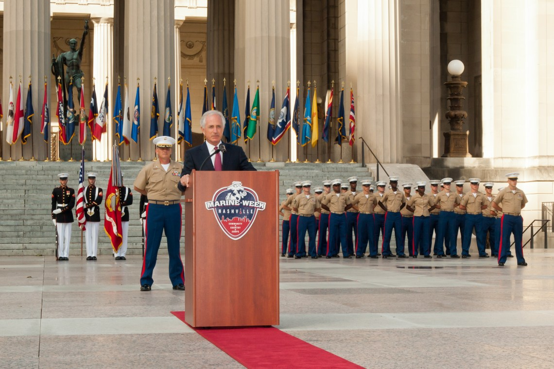 Day 3 - September 11th - Marine Week Nashville - Senator Bob Corker - 9/11 Memorial Service