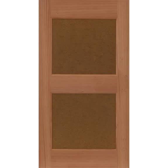 Wooden flat panel house shutters.