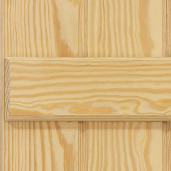 Exterior shutters with wooden board and battens.