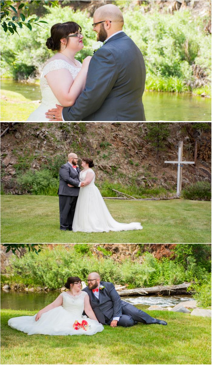 bride and groom rimrock church wedding south dakota
