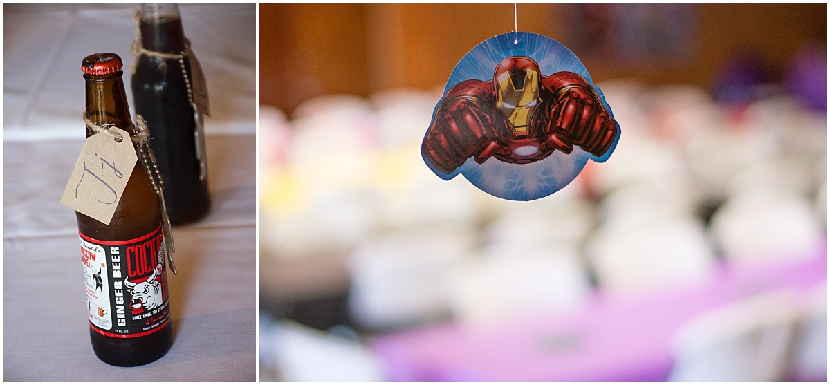 marvel wedding decoration custom soda gifts