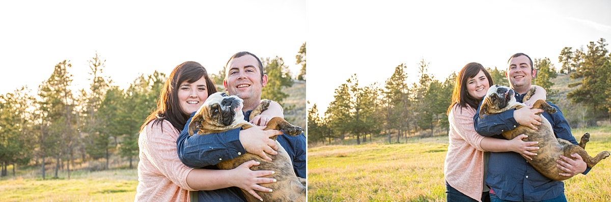 bull dog outdoor campus west rapid city south dakota engagement photos 5