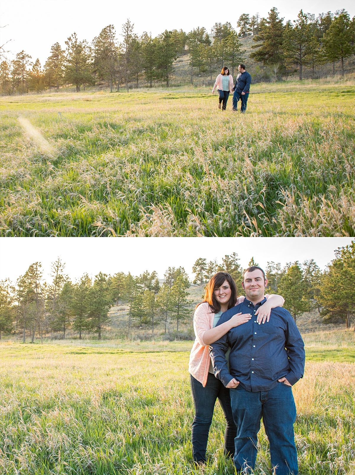 outdoor campus west rapid city south dakota engagement photos 4