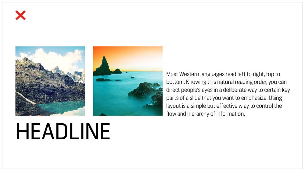 7 Mẹo thiết kế về cách tạo bản trình bày PowerPoint đẹp và hiệu quả - Cấu trúc PowerPoint không hiệu quả