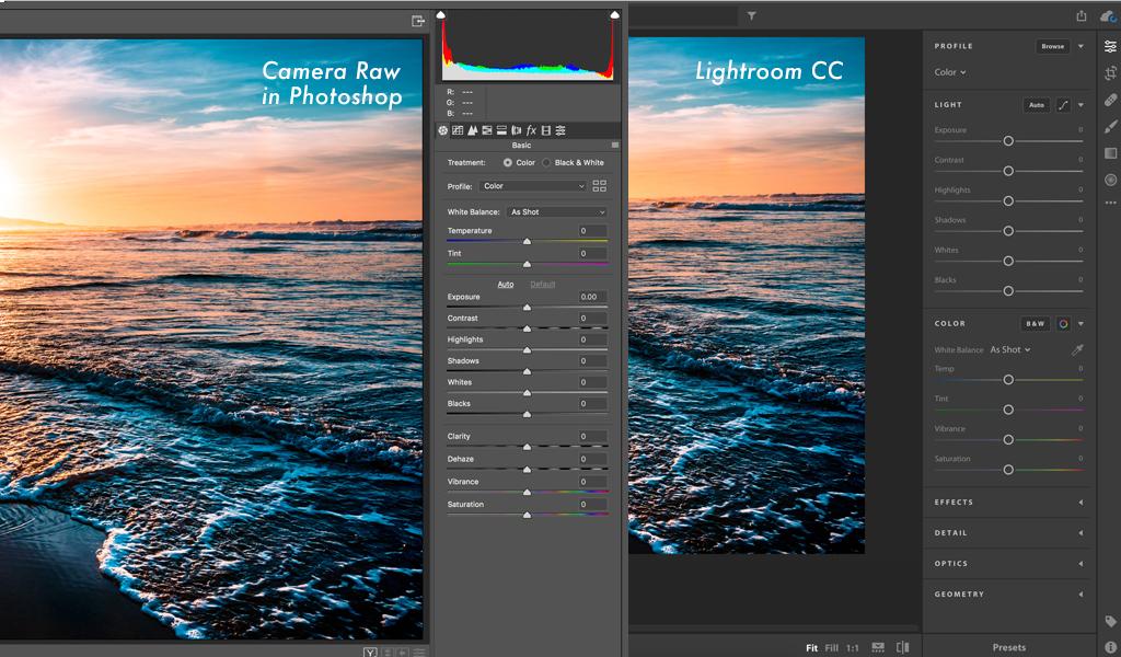 Photo Editing Showdown: Adobe Photoshop vs Lightroom CC