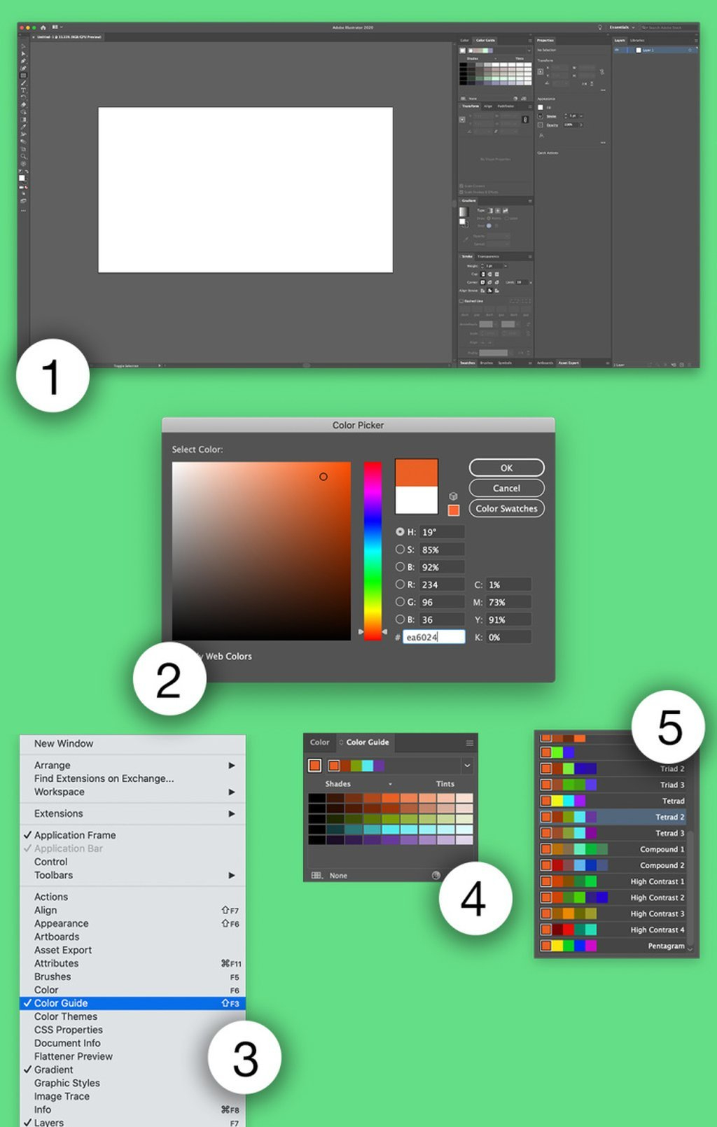 The Color Guide Panel