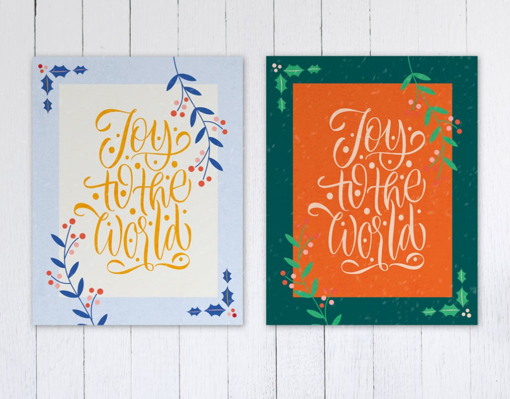Christmas Card Inspiration: Color Schemes