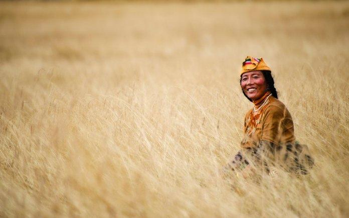 A Tibetan Nomad in the Tibetan Plateau