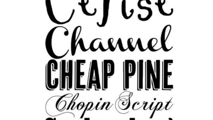 Typefaces