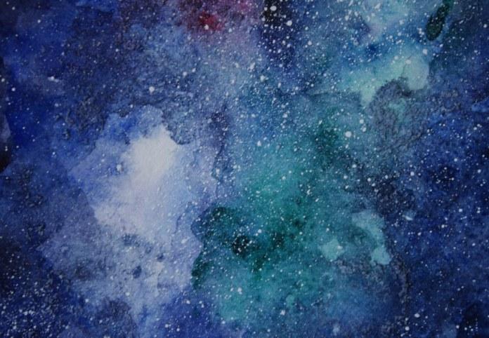 Cosmic Watercolor Art