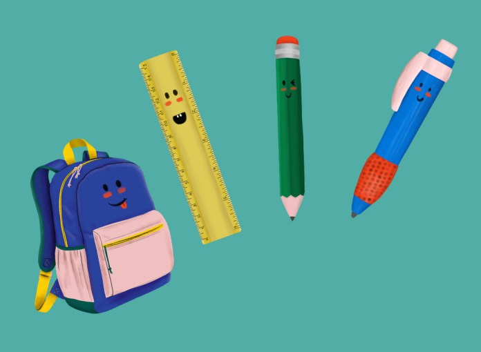 Backpack/Stationery Clip Arts