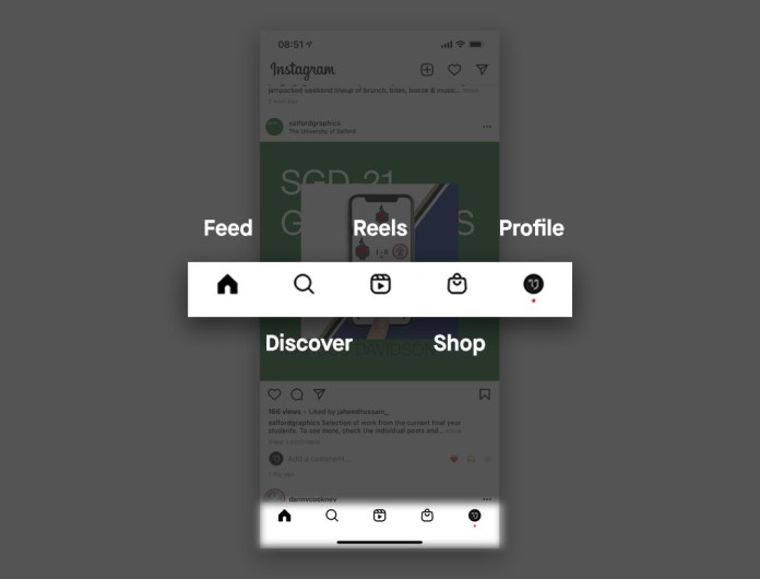 Instagram Nav Bar