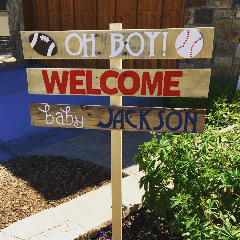 Sports-baby-shower-theme-DIY-sign