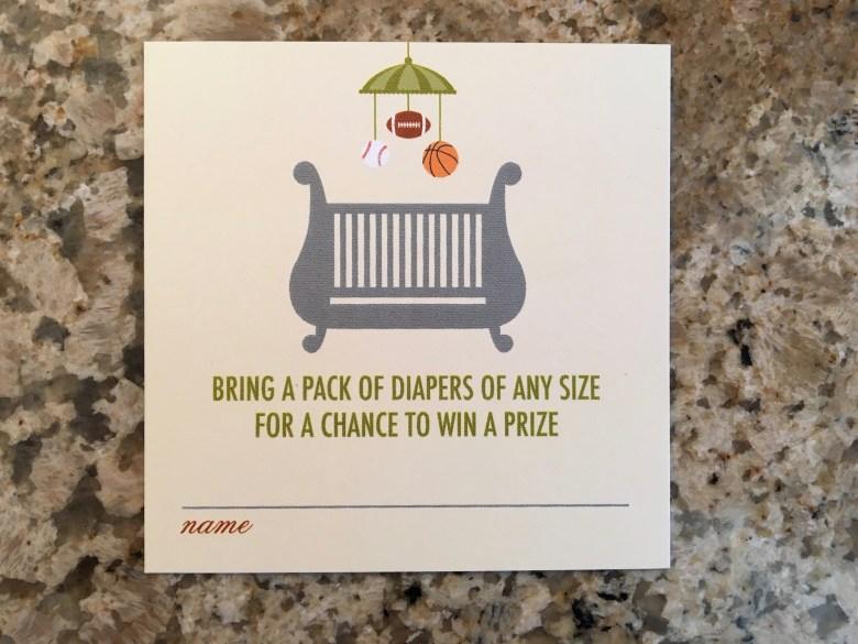 Sports-theme-diaper-raffle-card