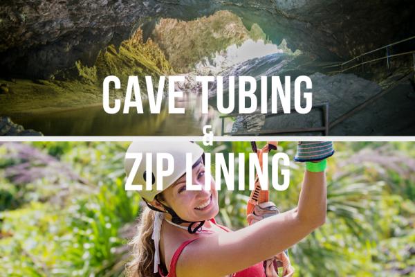 Cave Tubing and Zip Lining at Jaguar Paw