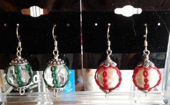 Ornament Earrings.  Teacher:  Sherry Pence