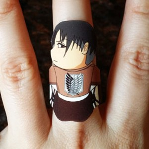 Attack On Titan Levi Ackerman Ring Shut Up And Take My Yen : Anime & Gaming Merchandise