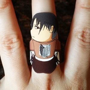 Attack On Titan Levi Ackerman Ring Shut Up And Take My Yen : Anime & Gaming Merchandise