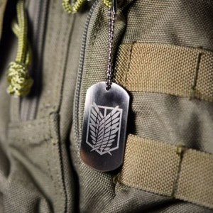 Attack On Titan Wings of Freedom Dog Tag Necklace Shut Up And Take My Yen : Anime & Gaming Merchandise