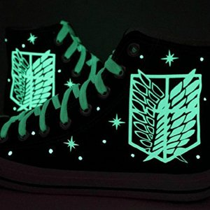 Attack On Titan Glow In The Dark Wings Of Freedom Shoes Shut Up And Take My Yen : Anime & Gaming Merchandise