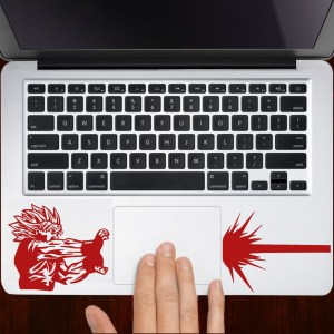 Dragon Ball Z Goku Kamehameha Laptop Decal Shut Up And Take My Yen : Anime & Gaming Merchandise