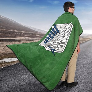 Survey Corps Fleece Blanket Shut Up And Take My Yen : Anime & Gaming Merchandise