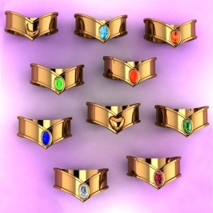 Sailor Moon Tiaras Rings Shut Up And Take My Yen : Anime & Gaming Merchandise
