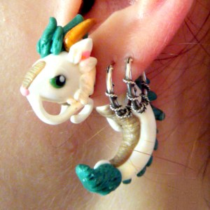 Spirited Away Haku Earring