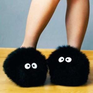 Totoro Soot Sprite Slippers