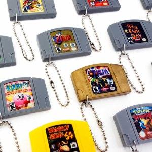 Nintendo 64 Cartridge Keychain