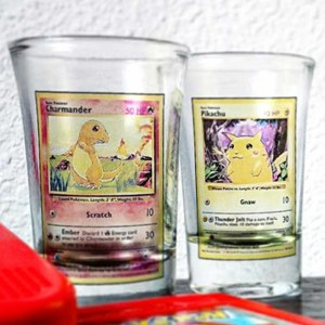 Pokemon Trading Card Shot Glasses