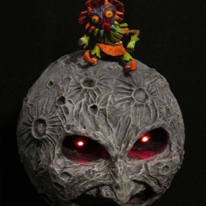 Legend of Zelda Skull Kid Moon Sculpture