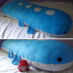 Huge 5ft Wailord Body Pillow Plush