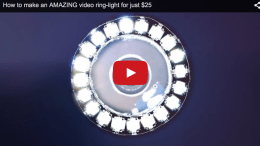 How to make a ring light for just $25 (video)