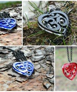 Om necklace Collage art AUM