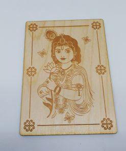 Radha Postcard Engraved border lasercut rectangle
