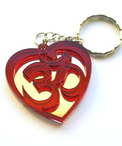 OM red Heart shape keychain 2