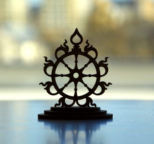 Sudarshana Chakra wooden statue 4
